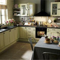 Kitchen on pinterest merlin kitchen cabinets and hoods - Modele cuisine equipee leroy merlin ...