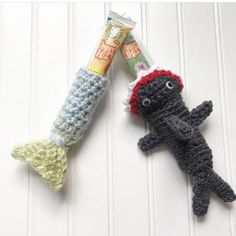 Summer ice pop holder, popsicle sleeve cozy, shark ice pop cozy, mermaid ice popsicle sleeve, shark week, crocheted ice pop holder.  Anpersonal favorite from my Etsy shop https://www.etsy.com/listing/530302121/shark-popscicle-cozy-popsicle-holder