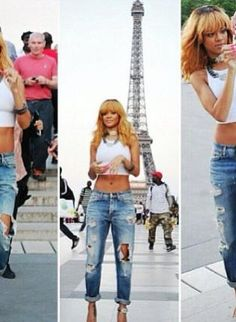 Blue Shorts - Boyfriend Trend high waisted jeans
