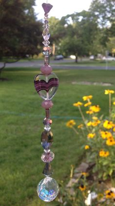 Hey, I found this really awesome Etsy listing at https://www.etsy.com/listing/197578050/heart-glass-crystal-suncatcher-with
