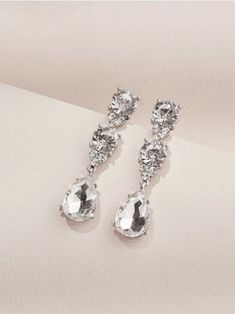 An elevated version of your classic tear drop earrings with mini crystal detailing. Wear it for a special occasion or casually with a relaxed sweater and jeans. Wedding Earrings Drop, Bridal Earrings, Women's Earrings, Wedding Jewelry, Fashion Jewellery Online, Fashion Jewelry Necklaces, Fashion Earrings, Beaded Jewelry, Bridesmaid Jewelry