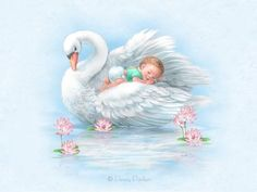 DIY Diamond Painting Swan Animal Full Square Round Diamond Embroidery Craft Art Needlework Resin Cross Stitch Home decoration Images Vintage, Vintage Pictures, Vintage Cards, Clipart Baby, Swan Animal, Penny Parker, Illustrator, Mosaic Animals, Baby Illustration