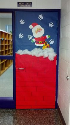 Decorate Christmas on the door