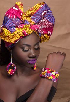Africain impression turban Ankara turban par AfrogenicCollections