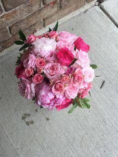 Wedding bouquet, pink brides bouquet, brides flowers, hot pink flowers, hot pink brides bouquet