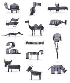 Новые каллиграфические животные Эндрю Фокса» - Все интересное в искусстве и не только.