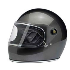 """BILTWELL """"Gringo-S Bronze Metallic"""". Great looking retro helmet with DOT standard."""
