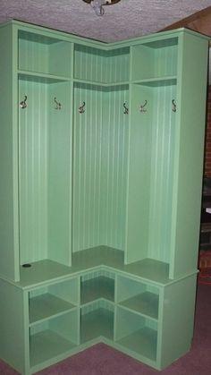 Custom Made Corner Mudroom Locker