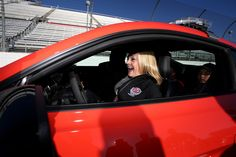 At-track photos: Sunday, Martinsville Sunday, April 3, 2016 Actress Melissa Joan Hart sits in the pace car she'll drive to lead off the NASCAR Sprint Cup Series STP 500 at Martinsville Speedway. Photo Credit: Getty Images