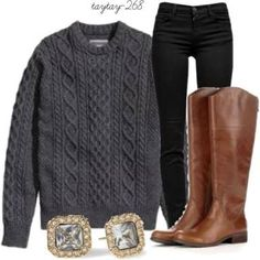 grey sweater outfits - Buscar con Google