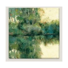 Cost Plus World Market Reflections by Caroline Ashton ($120) ❤ liked on Polyvore featuring home, home decor, wall art, backgrounds, giclee painting, cost plus world market, landscape painting, aqua home decor and landscape wall art