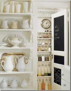 Everyday ironstone, lovely stocked pantry...