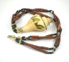 #Shell #Wood #Necklace #Boho #Hippie #Nautical #Vacation by #paleorama http://etsy.me/1MYP1S0 via @Etsy