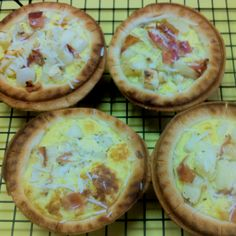 Bacon & Potato Mini Quiches - just made these in the Breville Pie Maker!