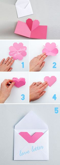 Simple Popup Heart | Click Pick for 23 DIY Valentines Cards For Him | Handmade Valentines Cards For Friends
