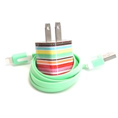 iPhone Charger Decorated with Personality with Color USB Cable