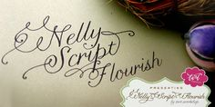 Nelly Script Flourish by Crystal Kluge, Stuart Sandler
