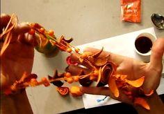 Rosas de cascara de naranja para bisuteria - Javies.com
