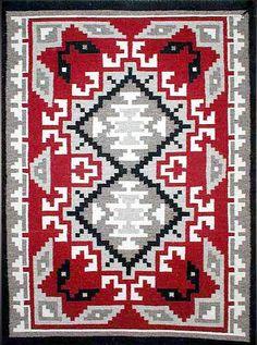 Navajo Rug Weaving by Sadie Begay - Klagetoh Navajo Weaving, Navajo Rugs, Loom Weaving, Hand Weaving, Native American Rugs, Native American Design, American Indian Art, Tapestry Crochet Patterns, Weaving Patterns