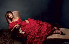 Beyoncé veste Oscar de la Renta
