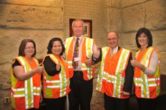 Revisor of Statutes Office employees participate in Go Orange in Kansas.