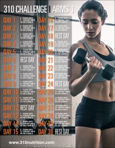 310 nutrition fitness arm challenge, 30 day fitness и workou Abs Challenge, Weight Loss Challenge, Arm Challenge 30 Day With Weights, Challenge Ideas, 30 Day Fitness, Fitness Tips, Fitness Motivation, Fitness Challenges, Fitness Routines