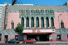 Mayan Theater, 1040 S. Hill Street, Morgan, Walls & Clements, 1926-27. (Photo 1986). Bradbury Building, Santa Monica Blvd, Living In La, His Travel, Postmodernism, San Diego, Vacation, Architecture, Theater