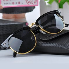 Cheap brand sun glasses, Buy Quality designer sun glasses directly from China sun glasses Suppliers: RoShari Vintage polarized sunglasses women men brand designer Retro Rivet polaroid sun glasses men gafas lentes de sol hombre Trending Sunglasses, Stylish Sunglasses, Wayfarer Sunglasses, Sunglasses Women, Vintage Sunglasses, Sunglasses Shop, Black Sunglasses, Sunglasses Online, Ray Ban Mujer