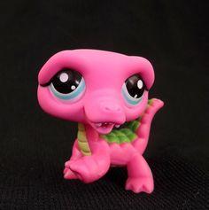 Littlest Pet Shop Pink Crocodile #1464 Special edition LPS Figure HASBRO 2008