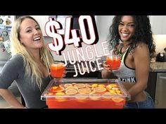 Booze on a Budget - The $40 Jungle Juice - Tipsy Bartender - YouTube