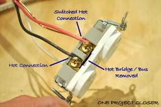 video how to wire a half switched outlet pinterest outlets rh pinterest com Wiring a Light Switch and Outlet Wiring a Light Switch and Outlet