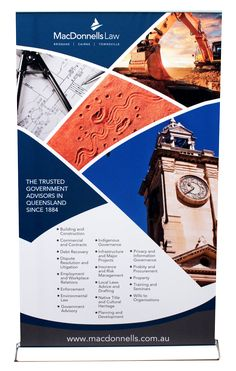 This large pull up banner by Star Outdoor is printed with an intriguing design to capture attention for this business. Visit www.staroutdoor.com.au to check out their range of printed outdoor promotional products and get custom printed pull up banners for