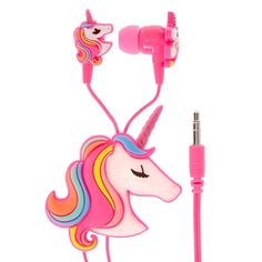 Rainbow Unicorn Earbuds and Winder | Rainbow hair and a dusting of glitter, it doesn't get more magical than this earbud set. Matching winder helps keeps your earbuds safe from ending up a tangled mess.