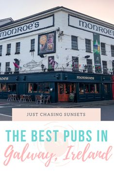 The Best Pubs in Galway, Ireland. Where to drink, listen to music, some pub crawl info, and a free Galway Map! Pubs are one of the best things to do in Galway Ireland Travel Guide, Europe Travel Tips, European Travel, Travel Guides, Places To Travel, Travel Destinations, Travel News, Travel Hacks, Best Pubs
