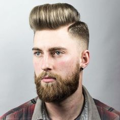 Fade with razor side part haircuts for men