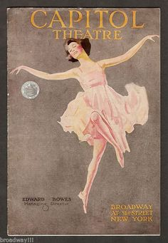 "George Gershwin's ""Swanee"" Debut Demi Tasse Revue 1919 Capitol Theatre Program | eBay"
