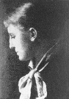 Mädchenkopf im Profil 1884
