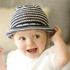 Baby hat (Reaaranged pattern so all one piece-cute-made for Keen 2013)