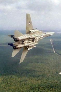F-14 Tomcat loaded down with Phoenix missles