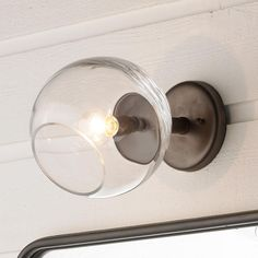 Young House Love Wonky Glass Wall Sconce Available in 2 Colors: Bronze, Gold
