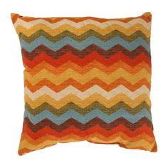 Chevron Sunset Pillow - Square #americanmade