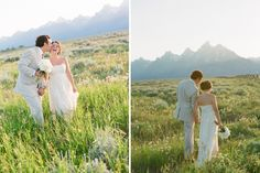 Mountain wedding. Carrie Patterson Photography @ Jackson Hole.