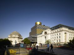Completed in 2013 in Birmingham, United Kingdom. Images by Christian Richters. Palazzos Centenary Square, the largest public square in the heart of Birmingham, currently lacks cohesion or a clear identity or atmosphere. Library Plan, Music Library, Library Design, Birmingham United Kingdom, Birmingham England, Library Architecture, Architecture Details, Birmingham Library, Lending Library