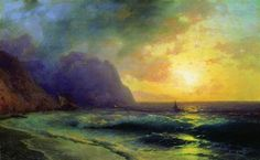 Sunset at Sea - Ivan Aivazovsky - Completion Date: 1853