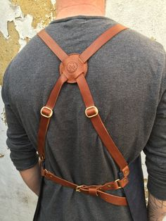 New to Roguesaddler Roguesaddler on Etsy: Selvedge denim and leather apron cross back silversmith crafter barber barista chef tattooist (110.00 GBP)