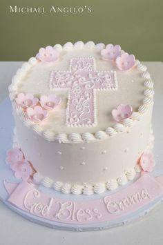 Savory magic cake with roasted peppers and tandoori - Clean Eating Snacks Christening Cake Girls, Girl Baptism Cakes, Baptism Cross Cake, Simple Baptism Cake, Baby Dedication Cake, First Holy Communion Cake, Cross Cakes, Religious Cakes, Confirmation Cakes