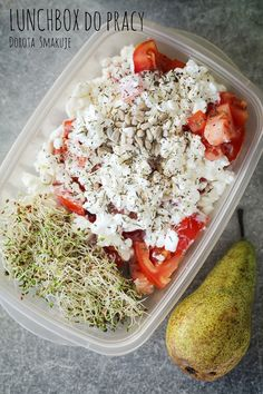 lunchbox do pracy Tahini, Healthy Recipes, Healthy Food, Bento, Acai Bowl, Lunch Box, Health Fitness, Food And Drink, Breakfast