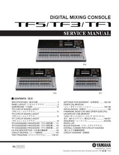 Service Manual - Yamaha TF5 - Mixer Technical Documentation, Short Messages, Page Number, Professional Services, Circuit Board, I Site, I Am Happy, Yamaha, Mixer