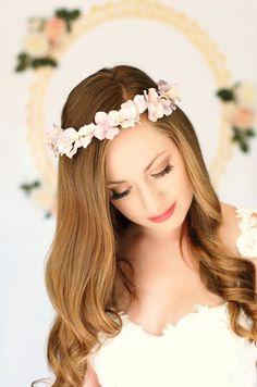 Bridal hydrangea flower crown LIMITED EDITION by AnnaMarguerite, $60.00