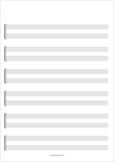 Printable Blank Sheet Music Paper 46 Free Printable Staff Paper Available In Different formats Blank Piano Sheet Music, Sheet Music Pdf, Music Sheets, Music Manuscript Paper, Music Theory Guitar, Music Paper, Teaching Music, Printable Paper, Free Printables
